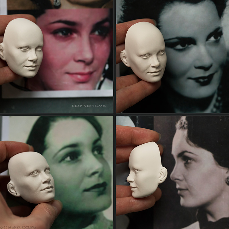 Ready face sculpture collage