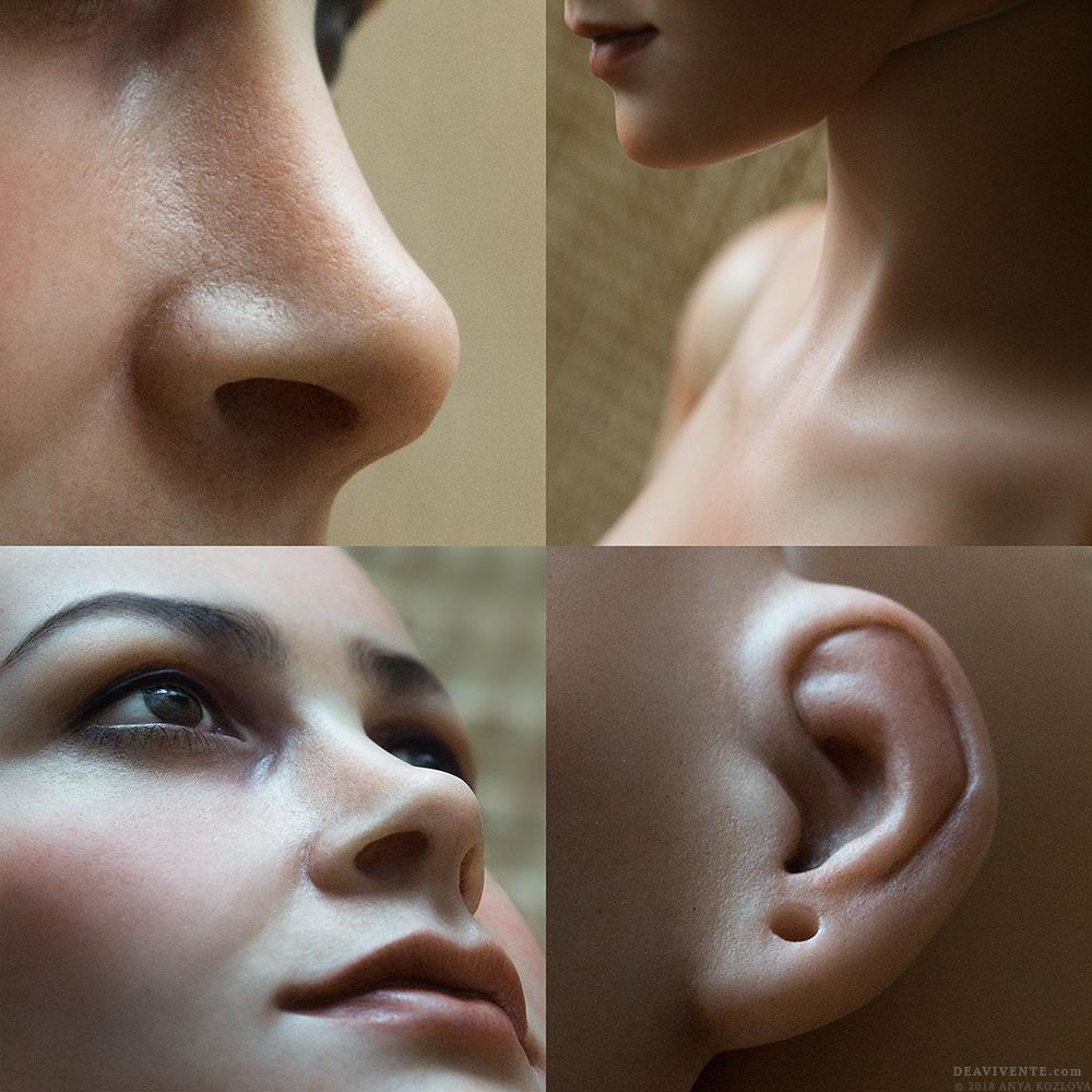 Skin texture collage